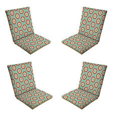 Patio Cushion Set Garden Outdoor Dining Chair Furniture Blue Multi Color 4 Pack