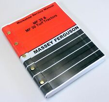 MASSEY FERGUSON MF 30 TRACTOR TURF BACKHOE LOADER SERVICE REPAIR WORKSHOP MANUAL