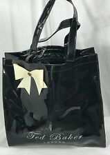 "TED BAKER LONDON ICON BOW Black  PLASTIC TOTE ""no ordinary designer bag"""