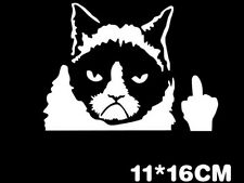 HOT Funny Grumpy Cat For JDM Auto Car/Bumper/Window Vinyl Decal Sticker Decals