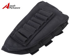 Airsoft Tactical Military Rifle Shotgun Stock Ammo Pouch Holder Left Hand Black