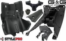 Innenraum Verkleidung Trittbrett 6Teilig Schwarz Matt für Yamaha Aerox MBK Nitro