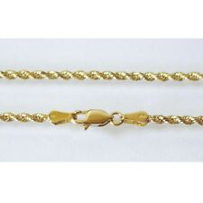 """14K Solid Yellow Gold Rope Chain 4.1 Grams W: 1.5 mm Length: 20"""" (50 CM)-30"""
