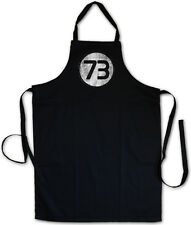 BLACK THE BIG BANG NUMBER 73 THEORY VINTAGE LOGO GRILLSCHÜRZE KOCHSCHÜRZE