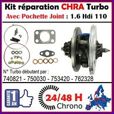 24H00 CHRA TURBO PEUGEOT 307 1.6 HDI 110 DV6ATED4 Cartouche Core Turbocharger