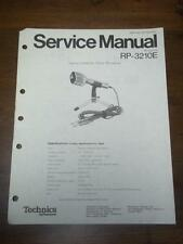 Technics Service Manual for the RP 3210E 3215E 3330 Microphones~Repair