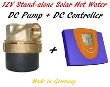 Off-grid Stand-alone Solar Hot Water 12V DC Solar Controller DC Pump