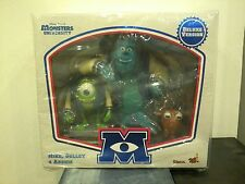 *HOT TOYS MONSTERS UNIVERSITY DELUXE VINYL FIGURES 3-PACK SET DISNEY PIXAR INC.