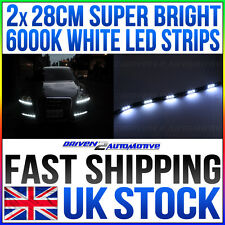 2 x 28cm DRL LED STRIP DAYTIME RUNNING LIGHTS - BRIGHT!