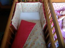 Cushi cots girls swing crib bumper and duvet Baby umbrellas and dots new