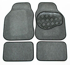 MG TF (LHD) Grey & Black 650g Carpet Car Mats - Salsa Rubber Heel Pad