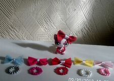 accessories for littlest pet shop 10 items bows, necklaces lps cat not included