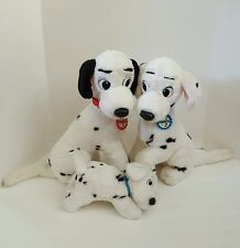 "Disney 101 Dalmations Pongo Perdita Rolly Plush Stuffed Mom Dad Dogs 16"" Mattel"