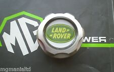 Land Rover Freelander Billett Alloy Oil Filler Cap Brand New Green Logo Insert