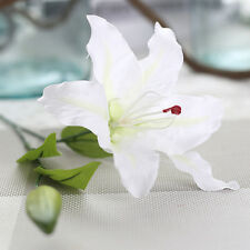 Artificial Fake Lily Silk Flowers Bouquet Home Garden Wedding Decoration