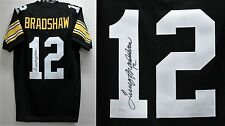 TERRY BRADSHAW Signed/Autographed Black Jersey JSA Pittsburgh Steelers