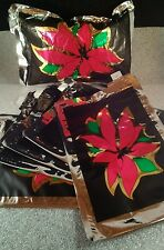 5 Poinsettia  Inflatable gift Wrap Pillow  Inflate give ship S 9.5 X 6.5 inch