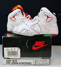 NEW Nike Air Jordan VII Hare Space Jam SHOES VINTAGE RARE SZ 2c Taglia 17 Infant SKY
