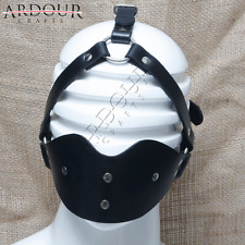 Genuine Real leather  Mask and Ball Mouth Cover Harness