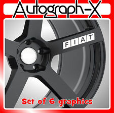 FIAT alloy wheel self adhesive vinyl graphic sticker decal