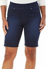 Gloria Vanderbilt Women's Avery Denim Pull On Bermuda Shorts, Size 16W - New!!