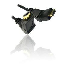 3m HDMI v1.4 Male to Male Cable Lead Wire with 180 Degree Swivel Bendy Plug Ends