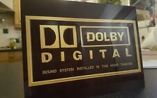 Dolby Digital Home Cinema metal sign high sheen professional finish Theatre sign