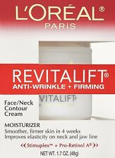 L'Oreal Paris RevitaLift Anti Wrinkle + Firming Face/Neck Contour Cream, New
