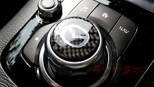 REAL CARBON FIBER COMMAND CONTROLLER KNOB INSERT FOR 14-16 MAZDA3 BM MAZDASPEED
