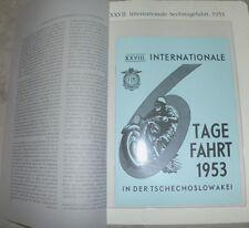 ADLER 6- TAGE FAHRT 1953  GOTTWALDOW M250 150 SIXDAYS MOTORRAD RENNEN OLDTIMER