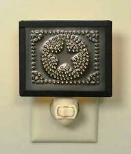 Primitive new PIE SAFE framed punched tin STAR night light w /bulb /nice