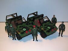 1980s GI JOE / ACTION FORCE JOB LOT OF ACTION FIGURES + Z-FORCE JEEPS - PALITOY