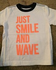 Gymboree Surf Wagon Boys Shirt Size 12-18 Months Just Smile And Wave Nwt