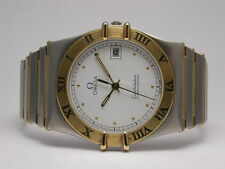 OMEGA CONSTELLATION TWO TONE AUTO 18K GOLD BARS STAINLESS STEEL STYLE 1392 012
