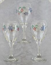 Set of 6 Pfaltzgraff NORDIC CHRISTMAS Wine Goblets Glasses Stemware