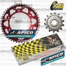 Regina 520 RH Chain Apico Sprocket Set 14T 47T Rear Red For Honda CRF 250X 2010