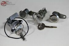 81-93 Mustang Ford Ignition Door Trunk Lock Cylinders Stainless Face w keys New