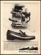 1964 Bostonian Flex-O-Mocs Mens Shoes Cobbler Tools Vintage Print Ad