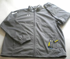 NWT $85 Men's UA TEAM Under Armour COLD GEAR JACKET Gray XL Warm Up,Track