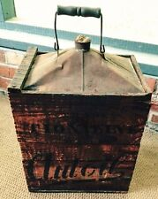 1900s TIONALINE AUTOIL AUTO OIL CAN, TIONA OIL COMPANY, ROOF TOP, CLARENDON, PA