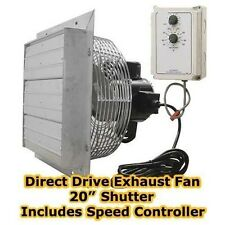 "Exhaust Fan - Direct Drive - 20"" Shutter - Variable Speed with Speed Controller"