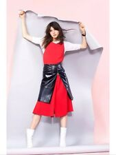 Zara Studio Long Red Dress With Pleated Flared Skirt Size M, Uk10-12 RRP£69.99