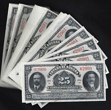 #0753: EL ESTADO DE SONORA 25 CENTAVOS NOTES - M3819 - UNCIRCULATED