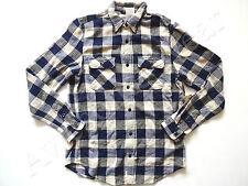 New Ralph Lauren Denim & Supply Blue Checkered 100% Cotton Button Up Shirt sz L