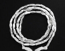 Karen Hill Tribe  Silver 75 Faceted Seed Beads 1.5x4mm. 13.5 inches