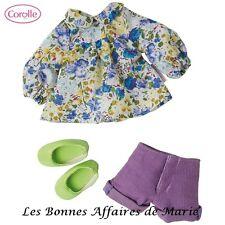 COROLLE - Ensemble blouse, short, ballerines pour poupée Les Chéries 33 cm  Neuf
