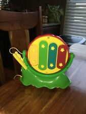 Classic Little Tikes Snail Piano / Xylophone / Drum Pull Toy - Used VG Condition