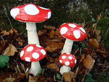 Large Toadstools ~ Handmade by Pixieland (Concrete)