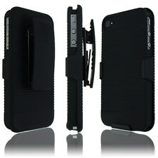 Black Belt Clip Rotate Holder Stander Holster Hard Case Cover For iPhone 4 4G 4S