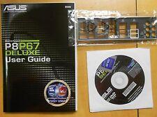 USA ASUS P8P67 DELUXE IO SHIELD , USER GUIDE , DVD DRIVER